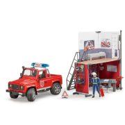 Bruder 62701 Tűzoltósági Land Rover és tűzoltóállomás