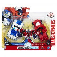 Transformers - Robots in Disguise CombinerForce játék figura - STRONGARM vs. OPTIMUS PRIME