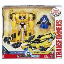 Transformers - Robots in Disguise CombinerForce játékszett - STUNTWING és BUMBLEBEE
