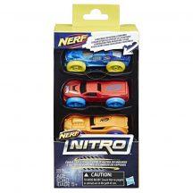 NERF Nitro szivacs kisautó készlet 2. (3 db-os)