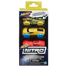 NERF Nitro szivacs kisautó készlet 5. (3 db-os)