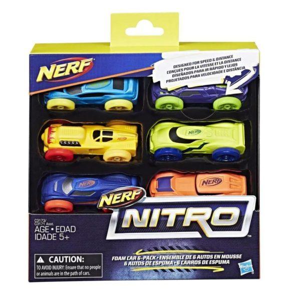 NERF Nitro szivacs kisautó készlet 2. (6 db-os)