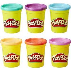 Play-Doh gyurmaszett - ÉLÉNK SZÍNEK 6 db-os
