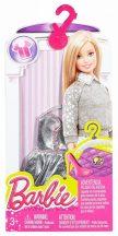 Barbie ruhák: Ezüst színű felső