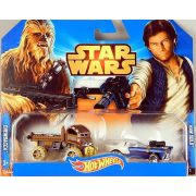 Hot Wheels Star Wars karakter 2db-os Chewbacca&Han Solo