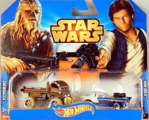 Hot Wheels Star Wars karakter 2db-os Chewbacca&Han Solo