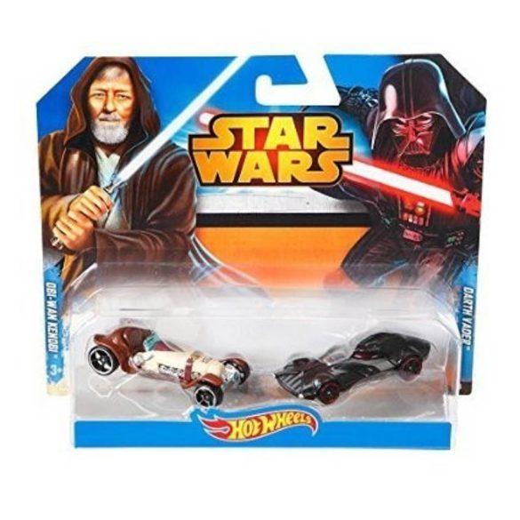 Hot Wheels Star Wars karakter 2db-os Darth Vader VS Obi Van Kenobi