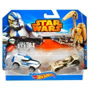 Hot Wheels Star Wars karakter kisautók - 501st Clone Trooper és Battle Droid