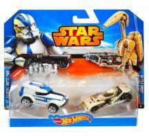 Hot Wheels Star Wars karakter kisautók - 501st Clone Trooper és Battle Droid