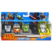 Hot Wheels Star Wars karakter kisautó 5 db-os