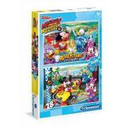 Clementoni 07034 Disney Junior puzzle - Mickey és a versenyzõk (2 x 20 db-os)