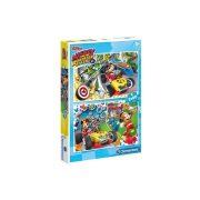 Clementoni 07130 Disney Junior puzzle - Mickey és a versenyzők (2 x 60 db-os)