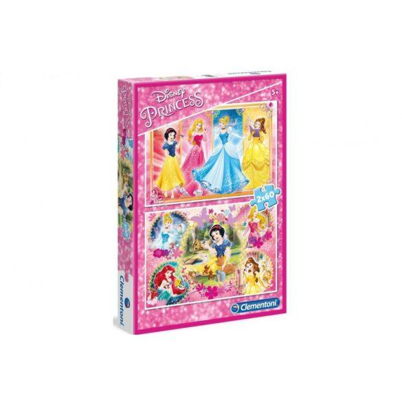 Clementoni 07133 Disney puzzle - Disney hercegnõk (2x60 db-os)