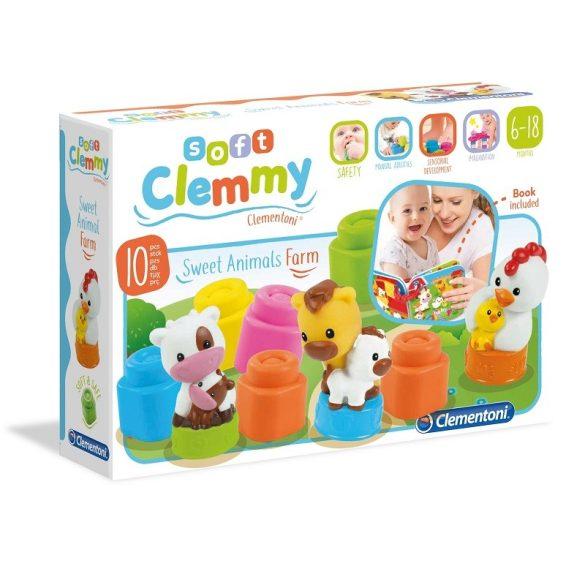 Clemmy Baby Mókás farm állatkák készlet (9+1 db-os)