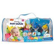 Soft Clemmy Baby Shark Puha építõkocka készlet táskában (22 db-os)