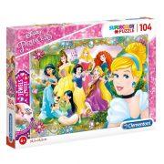 Clementoni 20147 Disney Jewels puzzle - Disney Hercegnők (104 db-os)