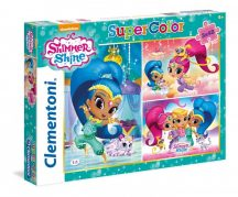 Clementoni Super Color puzzle - Shimmer & Shine (3x48 db-os) 25218