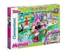 Clementoni Super Color puzzle - Disney Junior Mickey egér: Minnie egér (60 db-os) 26933