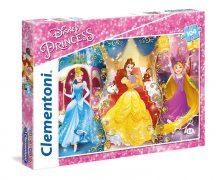 Clementoni Super Color puzzle - Disney hercegnők (104 db-os) 27983