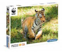 Clementoni puzzle - WWF TIGRIS KÖLYÖK (104 db-os) 27998