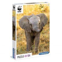 Clementoni puzzle - WWF ELEFÁNT BÉBI (104 db-os) 27999