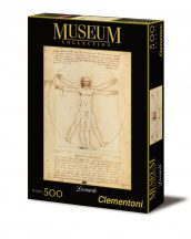 Clementoni 35001 Museum Collection puzzle - Leonardo: Vitruvius tanulmány (500 db-os)