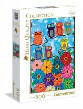 Clementoni 35024 High Quality Collection puzzle - Cuki baglyok (500 db-os)
