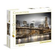 Clementoni 39366 High Quality Collection puzzle - A Brooklyn híd éjjel, New York (1000 db-os)