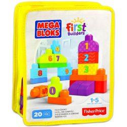 Mega Bloks mini építőzacskók (20 db-os) - SÁRGA