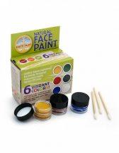 NEP - Természetes arcfesték - 6 színű, arcfestő készlet