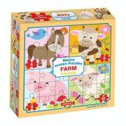 Farm állatai 4 az 1-ben puzzle