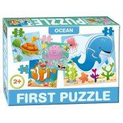 Óceán élõvilága 4 az 1-ben baby puzzle