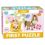 Farm állatai 4 az 1-be baby puzzle