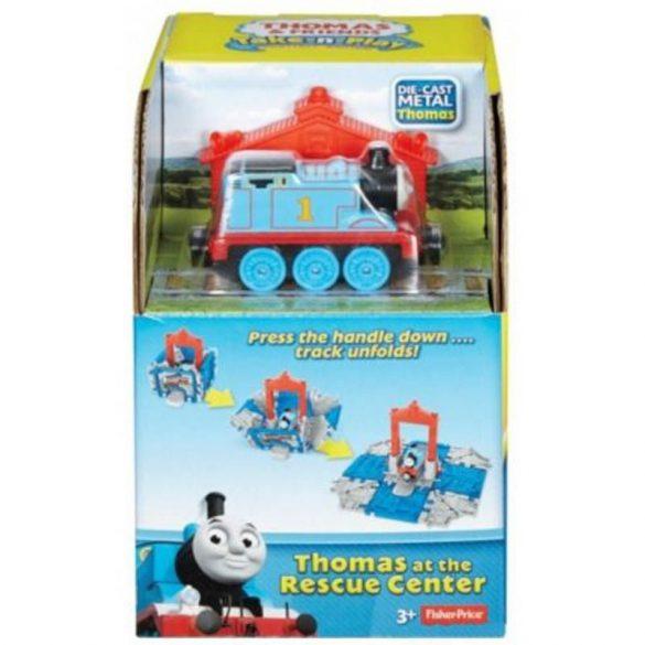 Thomas és barátai Take-n-Play Hordozható kocka állomás - Thomas a mentőállomáson kiegészítő szett