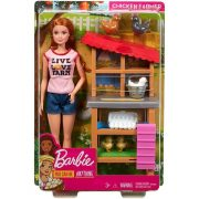 Barbie Karrierbabák - Farmerlány baba játékszett