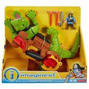 Imaginext Kalózos játékszett - Sétáló krokodil és Hook kapitány