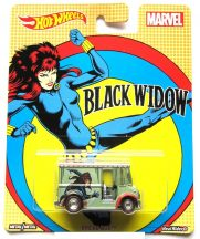 Hot Wheels MARVEL kisautók - BREAD BOX (Black Widow)
