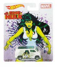 Hot Wheels MARVEL kisautók - CUSTOM '77 DODGE VAN (The Savage She-Hulk)