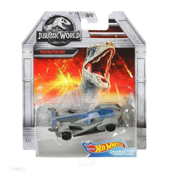 Hot Wheels Jurassic World kisautók - Velociraptor 'Kék' 2/5