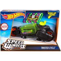 Hot Wheels Speed Winders motorok - TWISTED CYCLE zöld