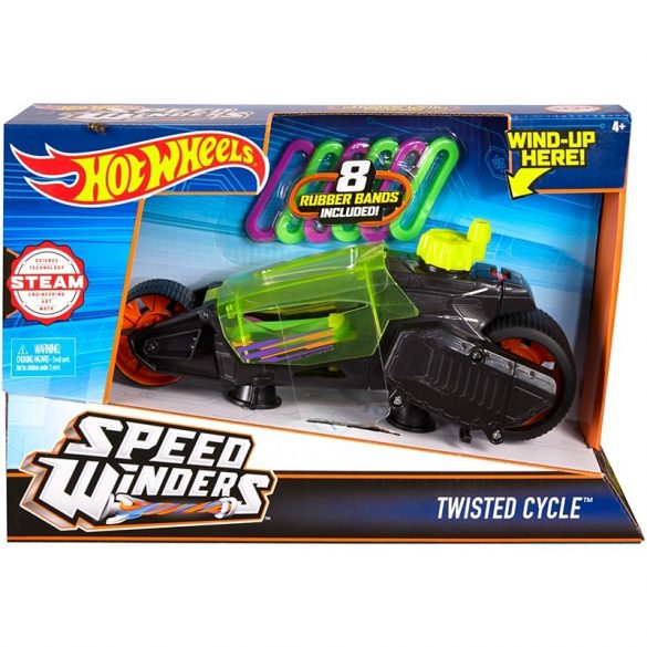 Hot Wheels Speed Winders motorok - TWISTED CYCLE zöld