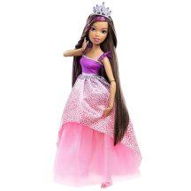 Barbie Végtelen Csodahaj Királyság óriásbabák - FEKETE HAJÚ