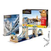 CubicFun DS0978 Nat. Geo 3D puzzle - London, Tower Bridge fotóalmbummal (120 db)