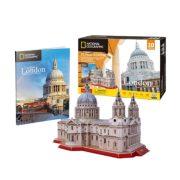 CubicFun DS0991 Nat. Geo 3D puzzle - London, Szent Pál Katedrális fotóalbummal (107 db)