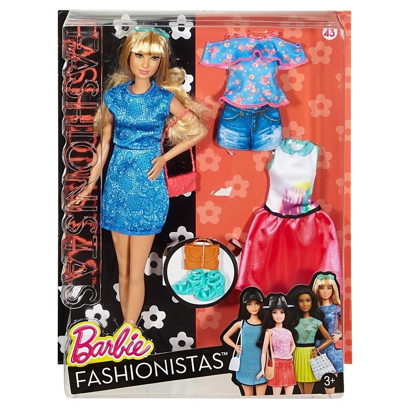 Barbie Fashionistas babák ruhákkal és kiegészítőkkel 43. - LACEY BLUE.  Mindegyik divatbaba ... 3b2c0ed717