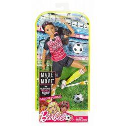 Barbie Sportoló babák - FEKETE HAJÚ FOCISTA