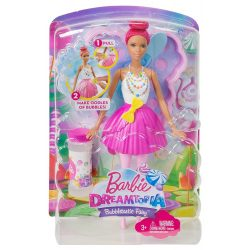 Barbie: Dreamtopia buborékfújó tündérbaba - PINK HAJ