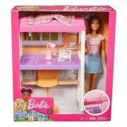 Barbie baba és dolgozó részleg bútorszett