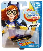 Hot Wheels DC Super Hero Girls karakter kisautók - BATGIRL