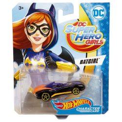 Hot Wheels DC Super Hero Girls karakter kisautók - BATGIRL